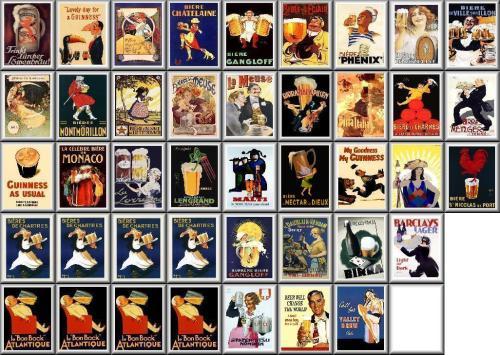 Vintage Beers Posters