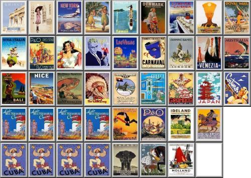 International Vintage Tourism Posters